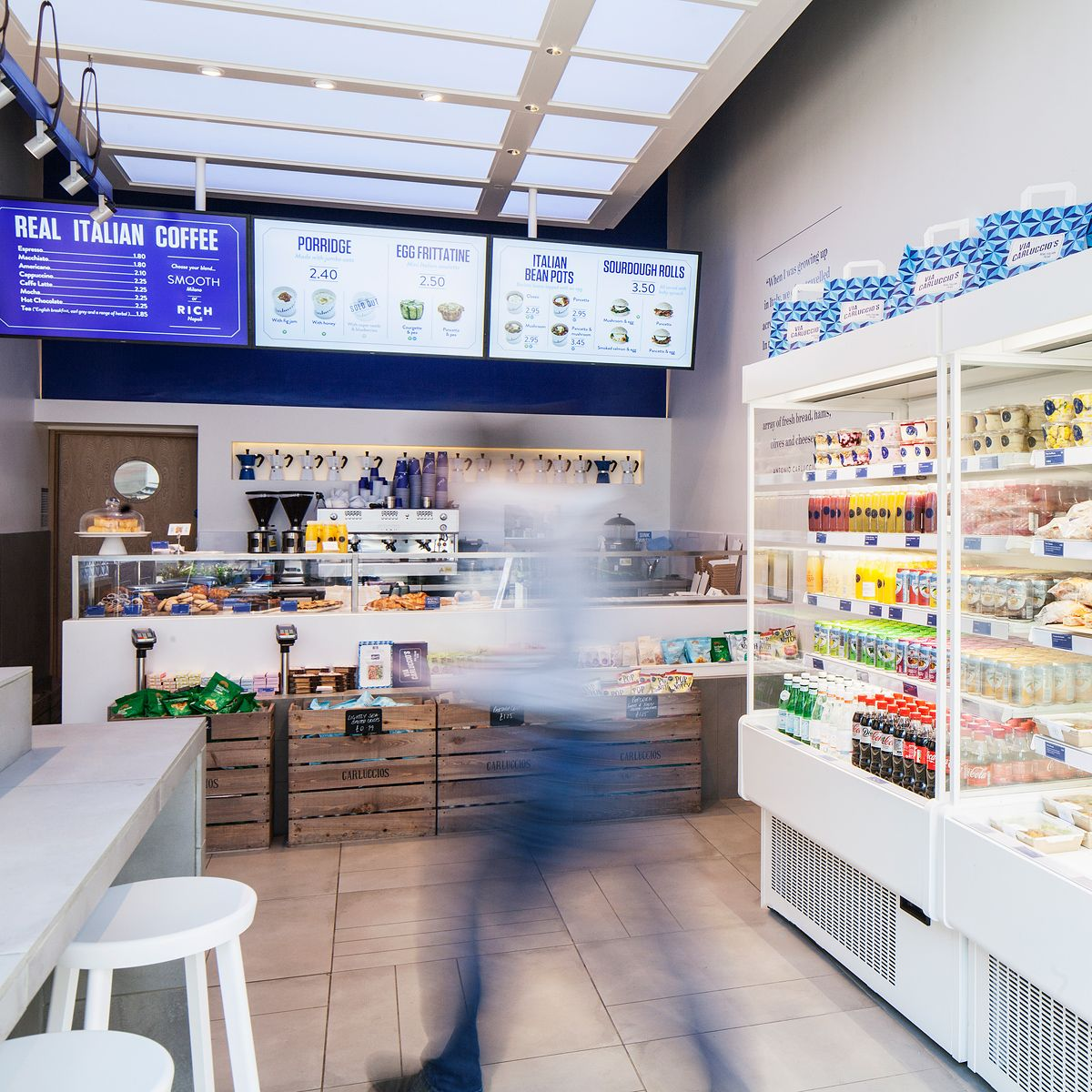 Designlsm Designs Via Carluccio S Tottenham Court Road Carluccio S Retail Design Design