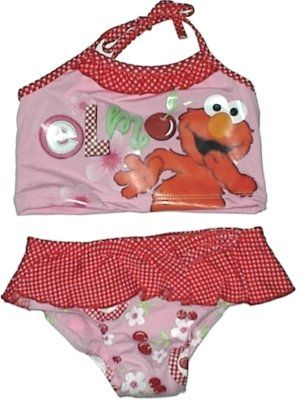 dd5ea692dd Elmo Sesame Street Girls Toddler Bikini 2 Piece Swimsuit $14.99 ...