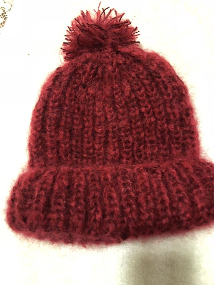 64957da09bc16 Hand Knit Acrylic And Mohair Hat  fashion  clothing  shoes  accessories   womensaccessories