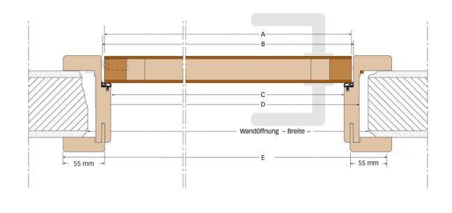 S-Design stumpf einschlagende Tren mit verdeckten Bndern ...
