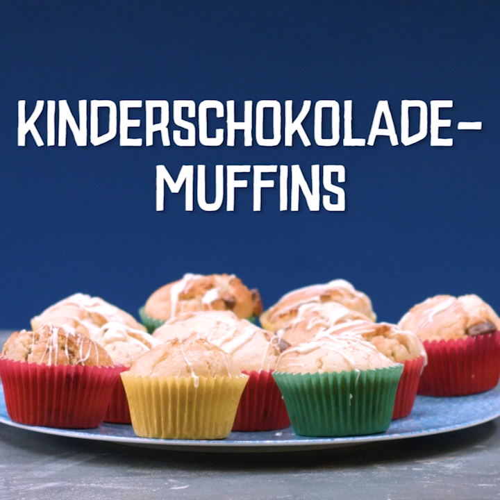 Kinderschokolade-Muffins #rührteiggrundrezept