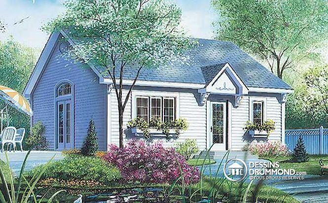 W1702 - Petite maison ou micro maison, à aire ouverte, beaucoup de