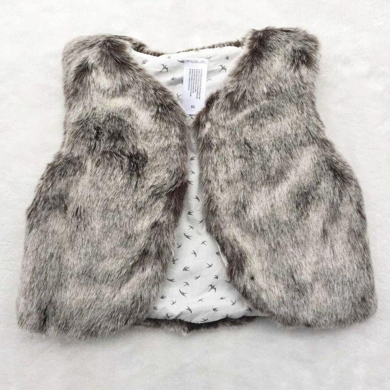 292233a95 Faux Fur Baby Vest