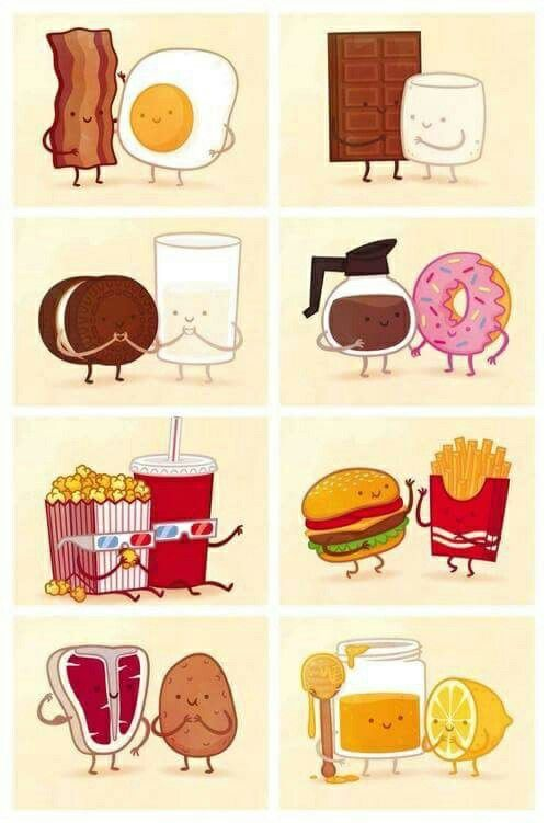 Food Bff Cute Drawings : drawings, Together, Carrots..., Drawings,, Cartoon, Kawaii, Drawings