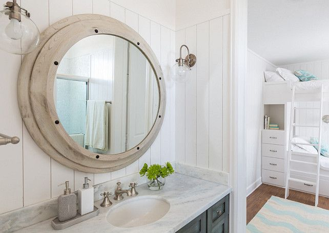 Bathroom Mirror and Sconces The bathroom sconces are the