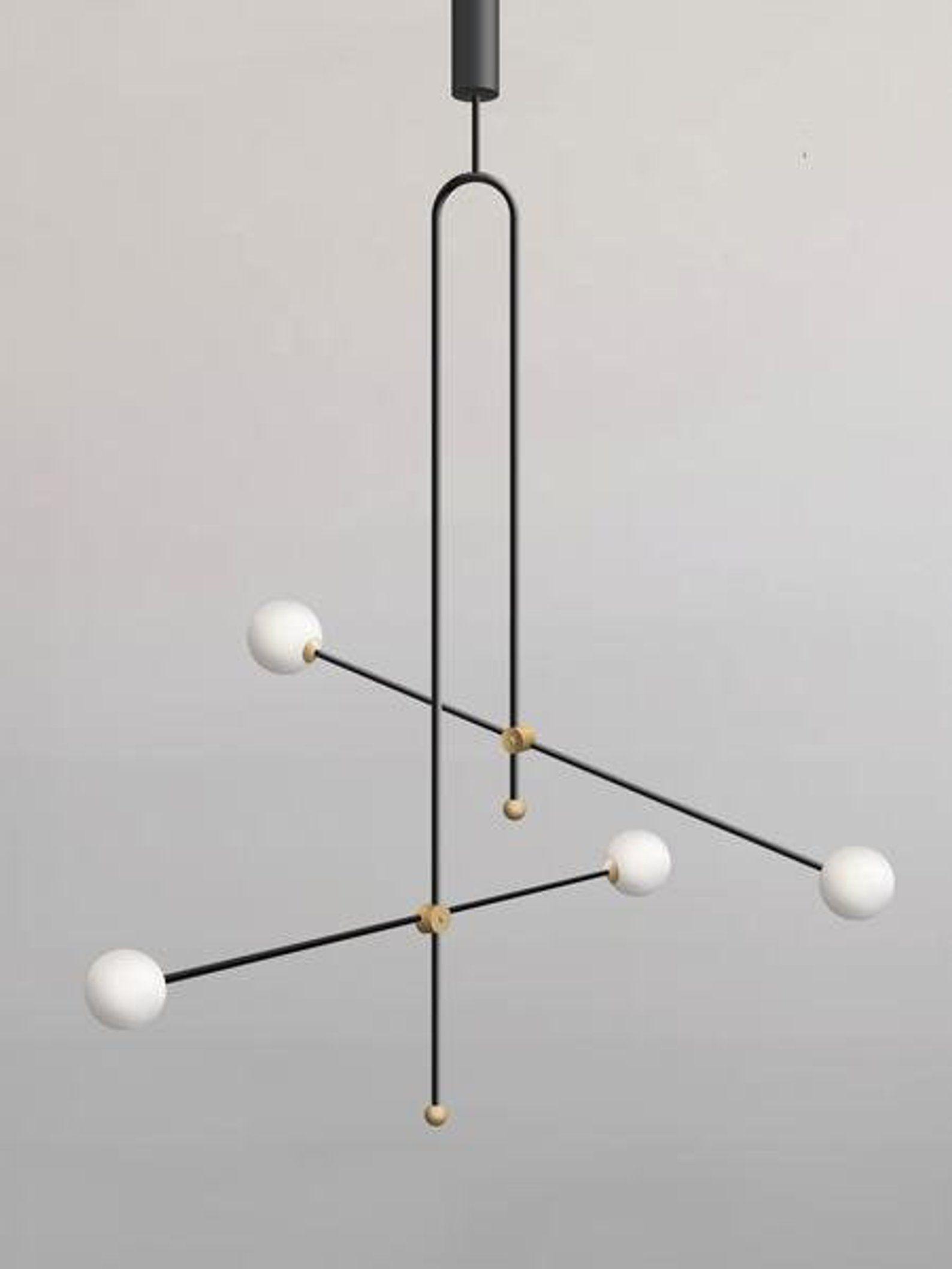 Xyz Chandelier Unique Pendant Lamp Minimalist Lamp Gold Pendant