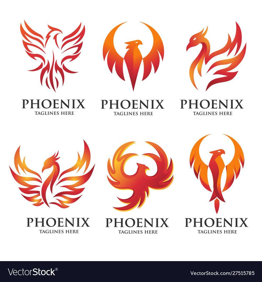 Luxury Phoenix Logo Concept Royalty Free Vector Image Ad Logo Concept Luxury Phoenix Ad Phoenix Design Phoenix Tattoo Design Phoenix Bird