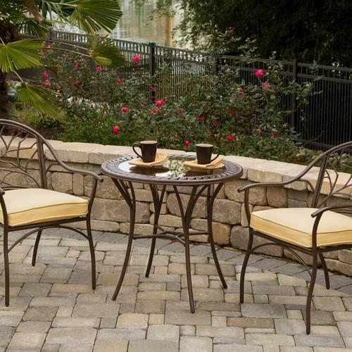 Cypress Bistro Collection At Menards Bistro Patio Set Outdoor Patio Decor Patio