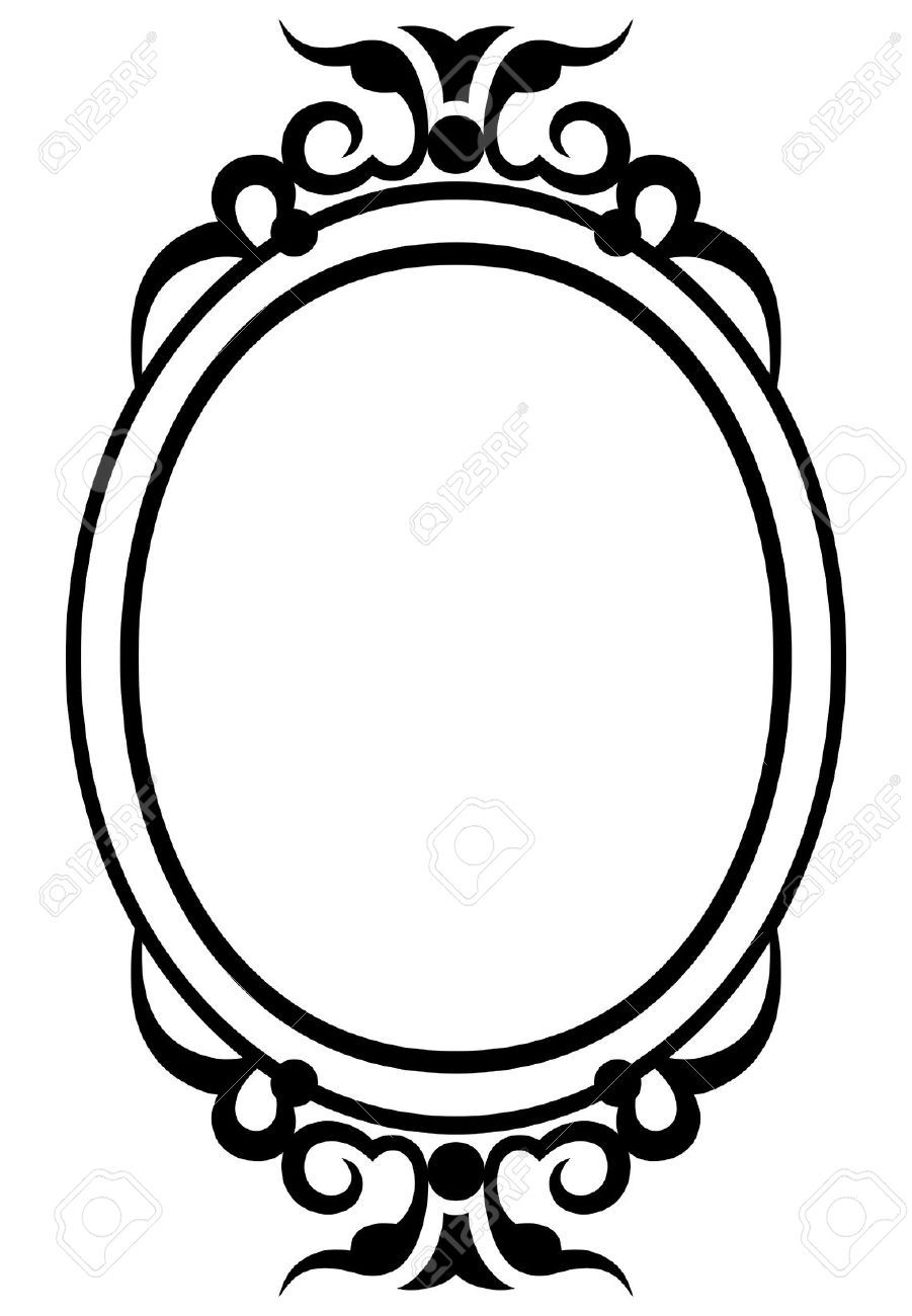 Pics for antique mirror frame clipart for Marco espejo vintage