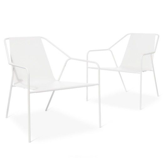 dwell modern lounge furniture. Outdoor Lounge Chair 2 Pk White - Modern By Dwell Magazine Furniture