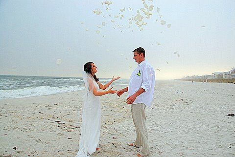 Rose Petals At A Beach Wedding Beach Wedding Beach Destination Wedding Rose Petals
