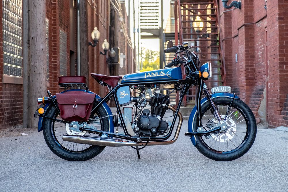 The Janus Halcyon 250 is a new motorcycle with classic style