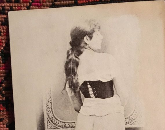 Vintage Sepia Burlesque Edwardian Pinup Girl Photo by ArtBarn