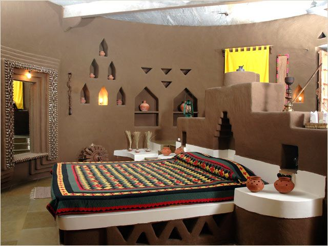 Rajasthani Mud Hut Interior 5 Indian Style Bedrooms