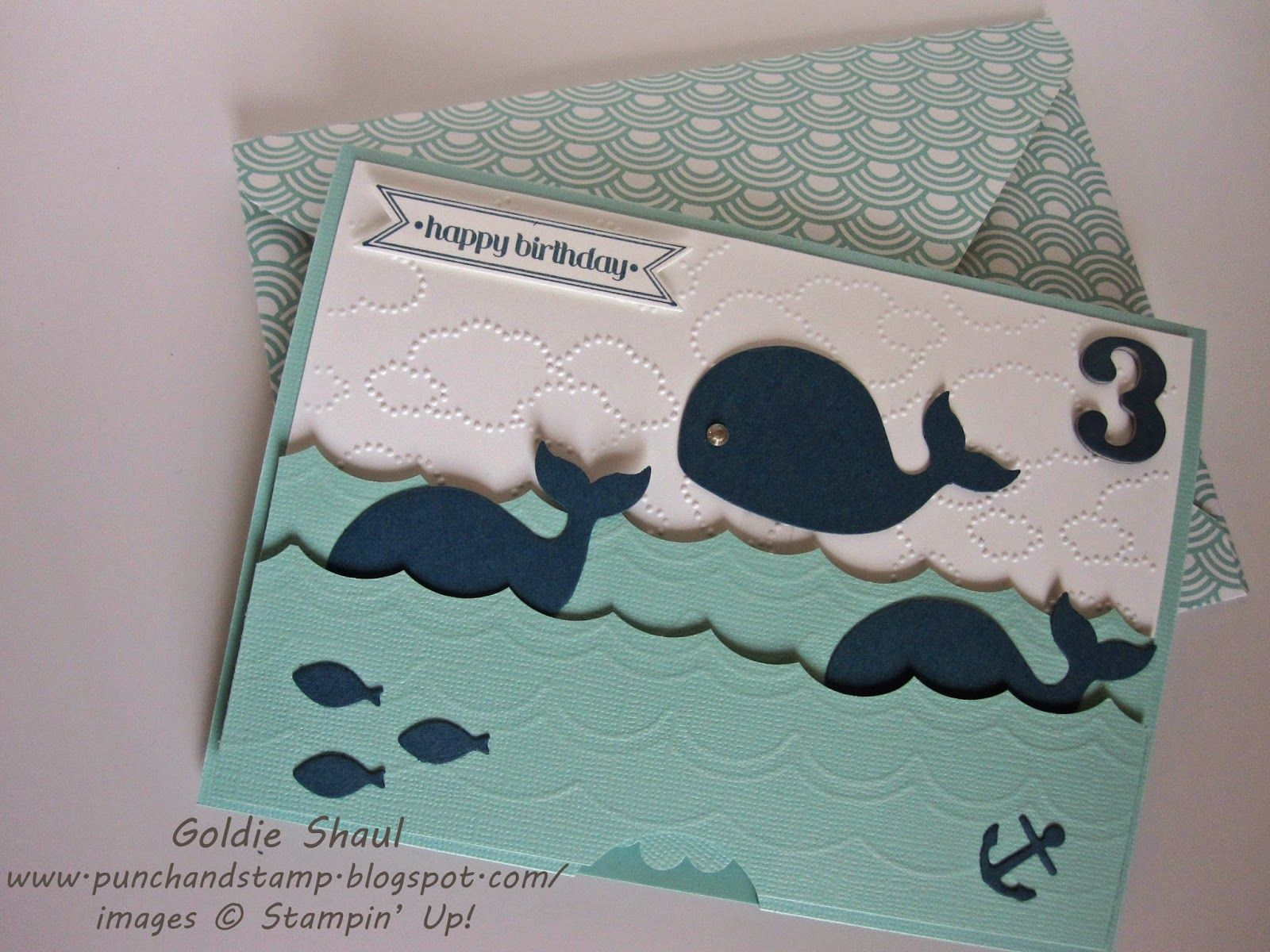 """""""happy birthday"""" jumping whale  3rd birthday card whale"""
