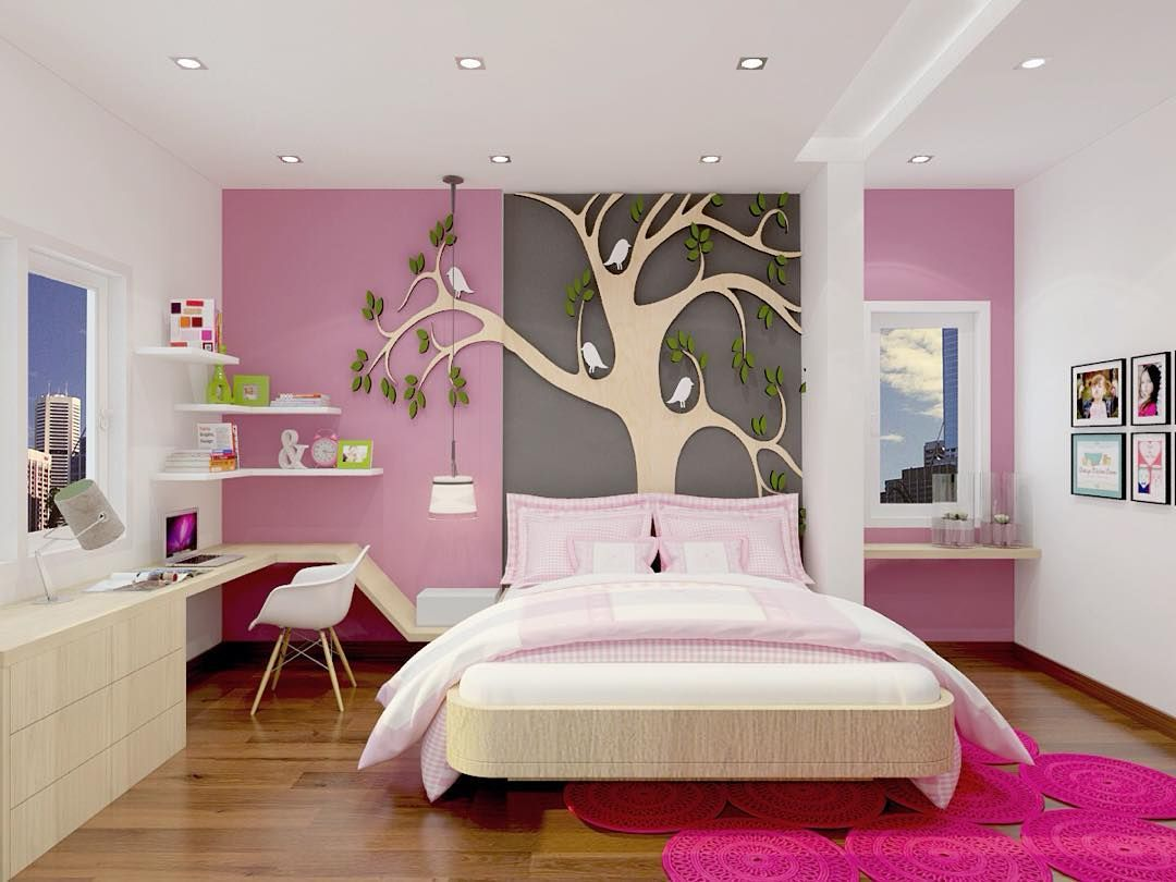 desain kamar anak perempuan ukuran 3x3 | dekorasi kamar tidur di