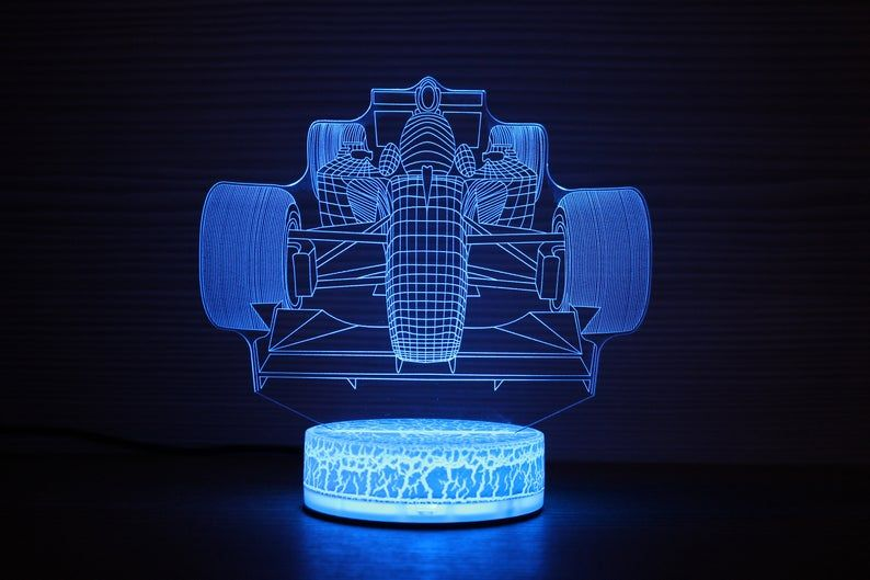 Formula 1 Vintage 3d Night Lamp Night Light Home Decor F1 3d Etsy Night Lamps Night Light Lamp