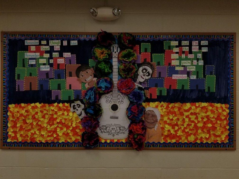 Dia De Los Muertos Bulletin Board Coco Halloween Classroom Door