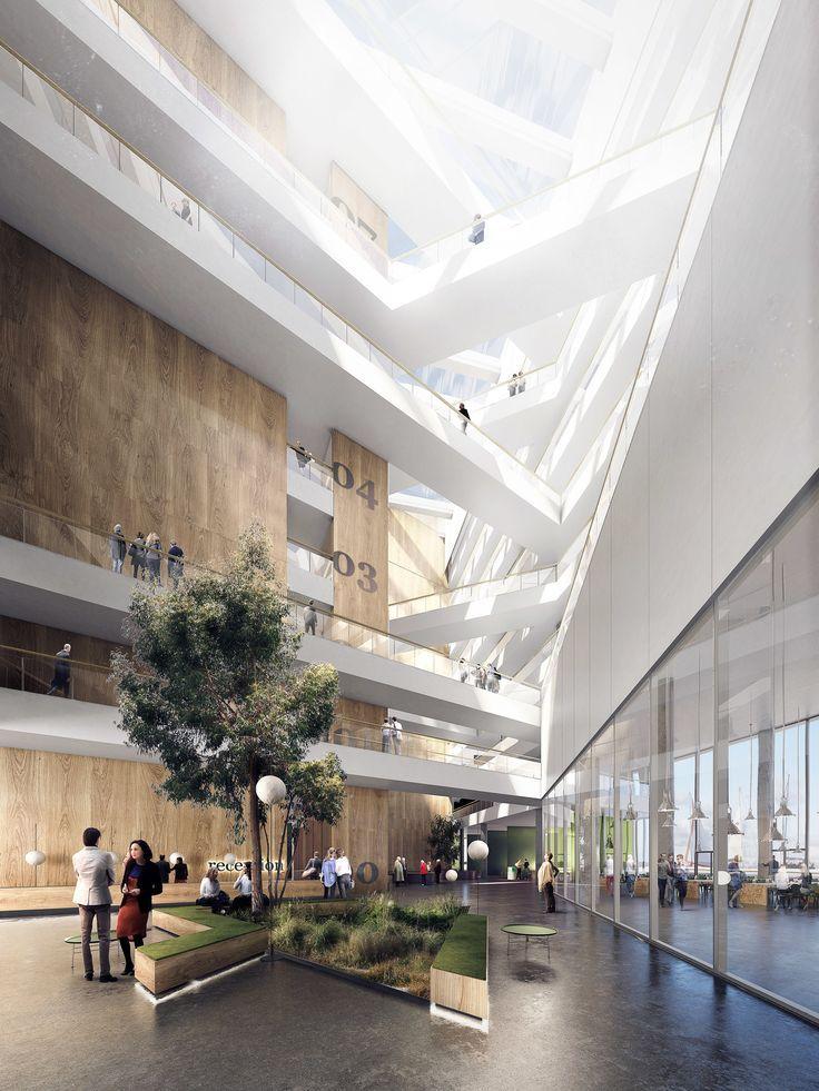 スキャンポートアトリウム コペンハーゲン 2020 病院建築
