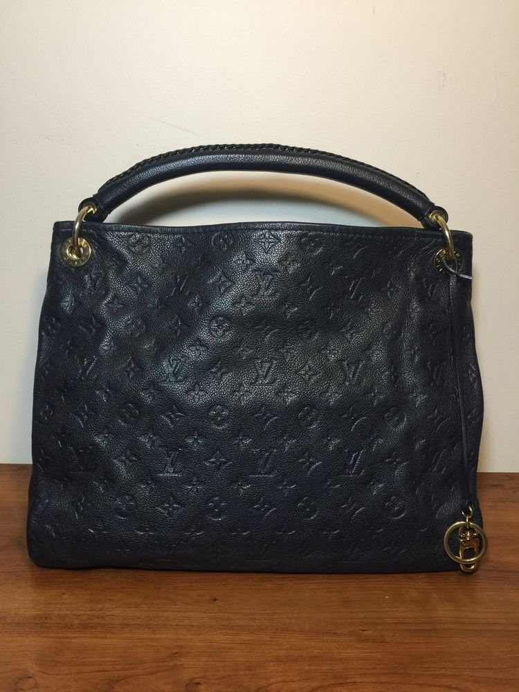 e88fe5dd8662f Authentic Louis Vuitton Monogram Empreinte Leather Artsy Mm Infini Blue  Hobo Bag