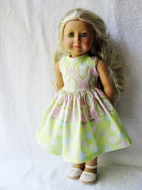 Easter Colors Dress2 - (45) Dresses - Doll Clothes by Jane Fulton