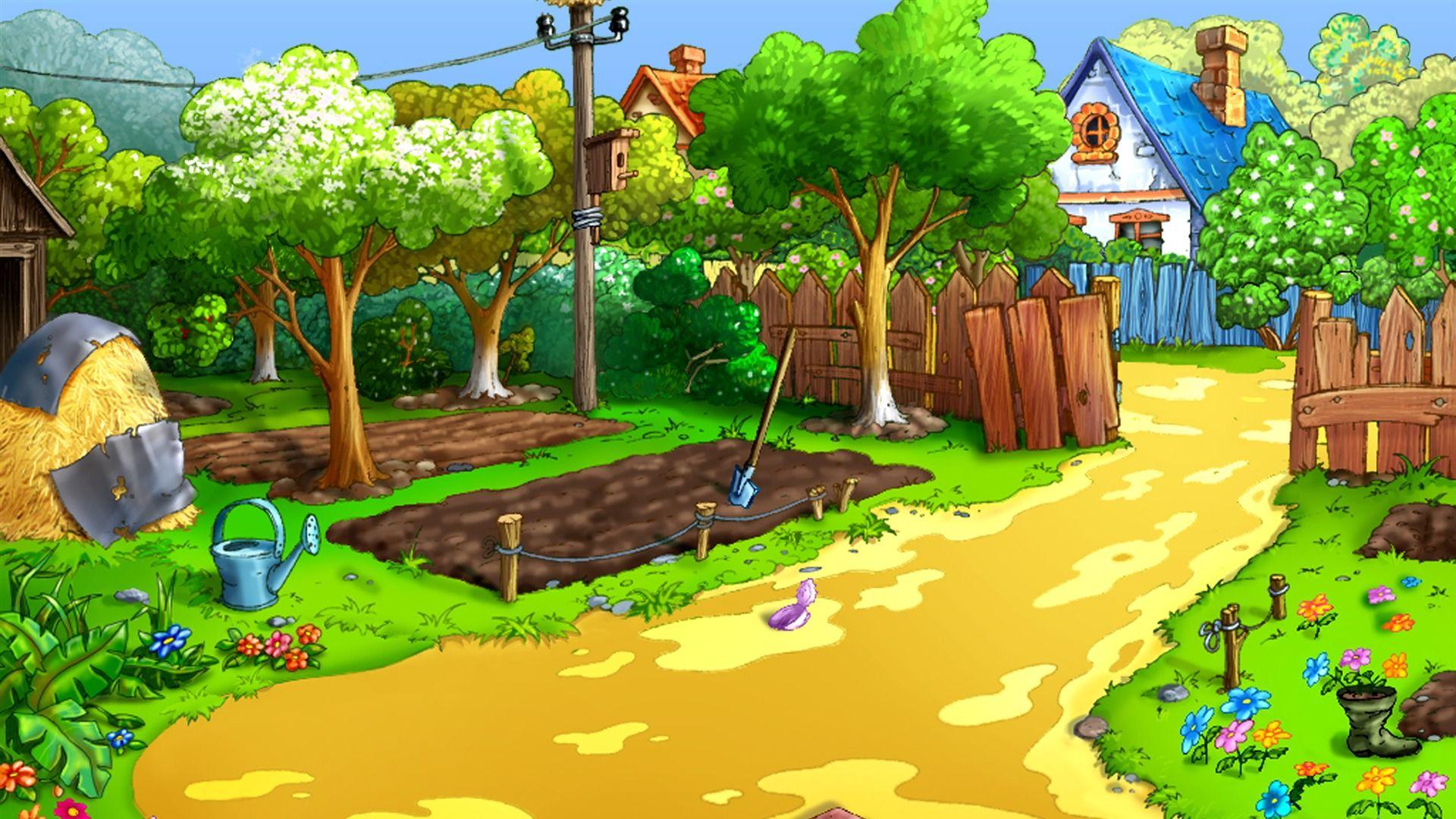 Cartoon Nature Background Wallpaper