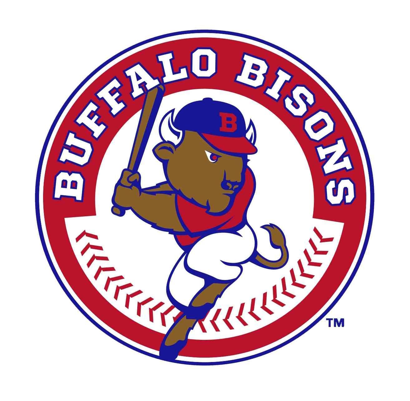 Buffalo Bisons (Buffalo, NY). Baseball teams logo, Bison