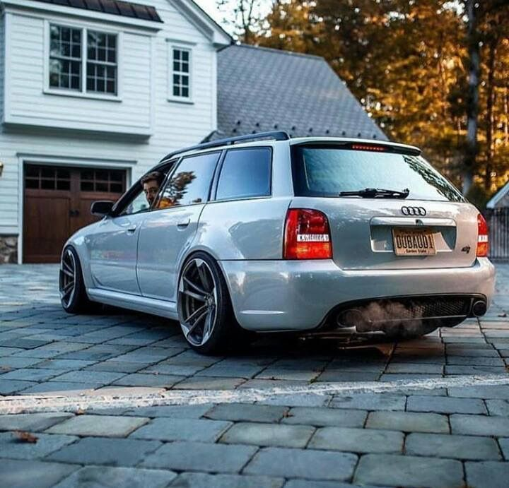 Audi Rs4 Avant B5 Slammed Stance Cars Trucks Man Cave