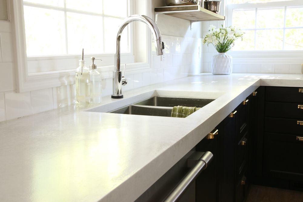 12 DIY Countertops That Will Blow Your Mind | Designertrapped.com. White  Concrete ...
