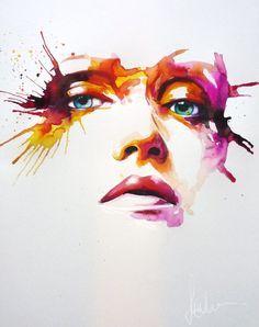 Resultat De Recherche D Images Pour Portrait Aquarelle Abstrait
