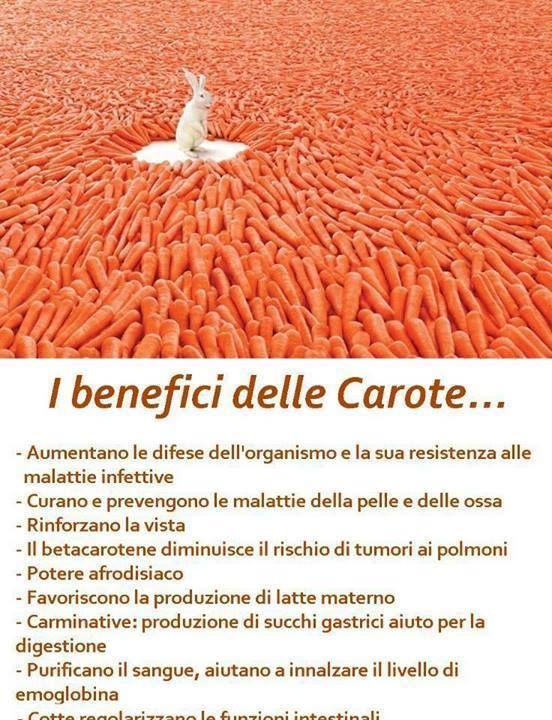 Anche le carote hanno il loro perchè.