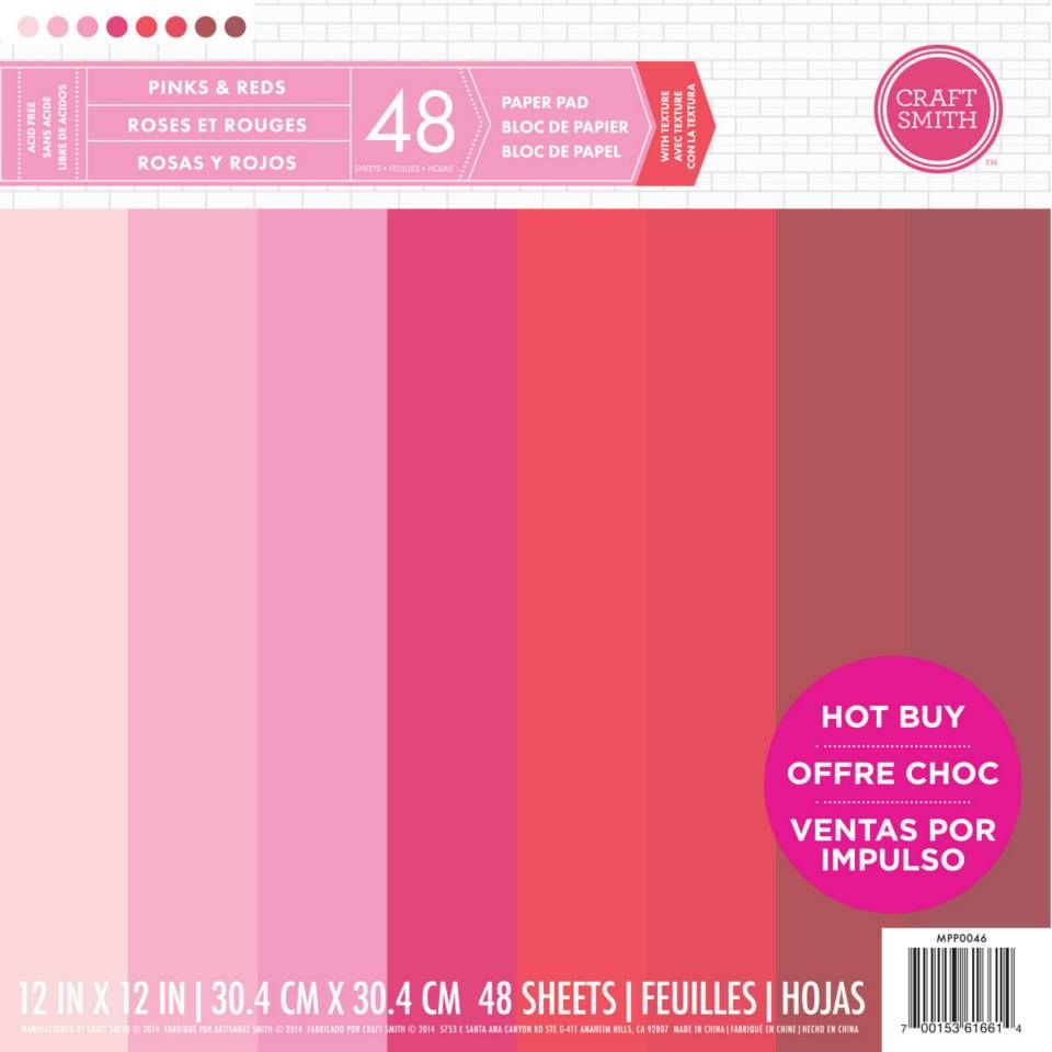 New From Craft Smith Cardstock Paper Pad In Shades Of Pink And