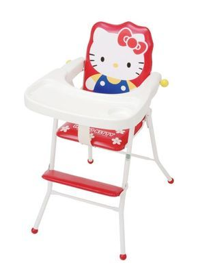 hello kitty high chair back covers for bar stools child baby with table flat fold new