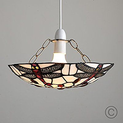 Louis Comfort Tiffany Style Ania Antique Red And White