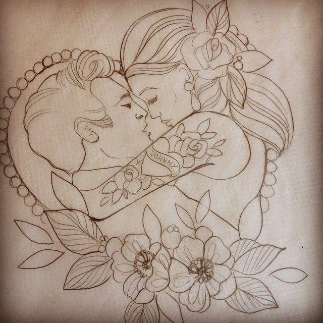 Ohhhh yeaaaah ... Today's fun times tattooing the adorable @dollfacemakeupx #tattoo #stencil #cash #johnnycash #junecarter #walktheline  #johnnycashandjunecarter