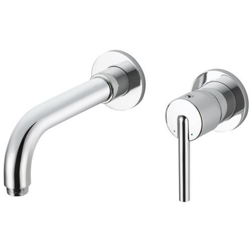 Delta Trinsic Chrome 1 Handle 8 In Centerset Watersense Bathroom Sink Faucet Lowes Com In 2021 Wall Mount Faucet Bathroom Bathroom Faucets Chrome Bathroom Faucets