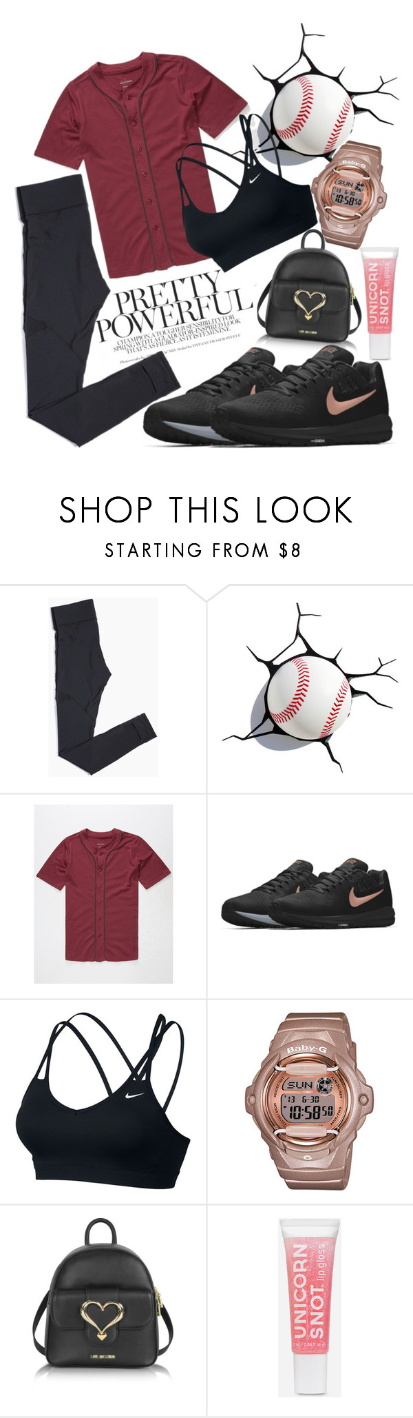 """""""Untitled #358"""" by sassymermaid ❤ liked on Polyvore featuring Blue Crown, NIKE, G-Shock and Love Moschino"""