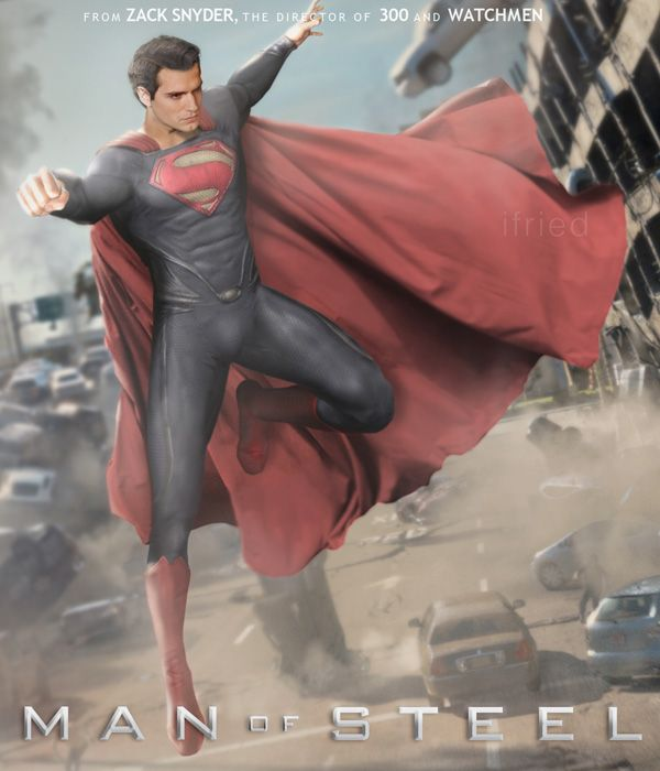 Superman Man Of Steel Gets A New Fan Made Movie Poster Man Of Steel Superman Man Of Steel Superman