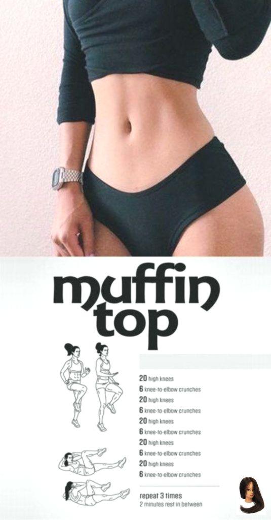 7 Einfache Übung und Training um das Muffin-Oberteil zu reduzieren #fitnessexercisesathome