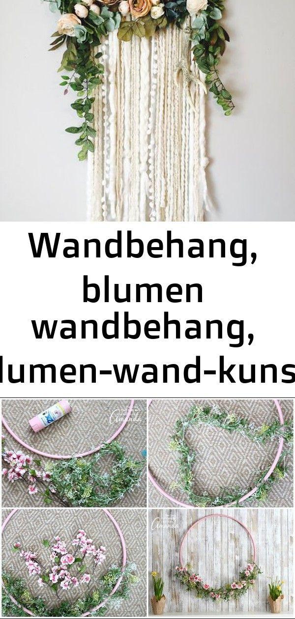 Wandbehang, blumen wandbehang, blumen-wand-kunst, große wandbehang, moderne wandbehang, blume wand 4 #gartendekoselbermachen