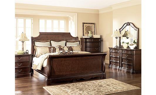 Camilla Sleigh Bedroom Set From Ashley Furniture Soooo Seeing This In My Future Sleigh Bedroom Set Bedroom Sets Luxury Bedroom Master
