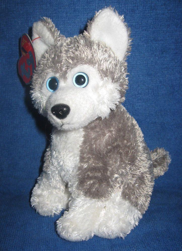 12a956d1610 Stuffed Animal plush Ty Sledder Husky Malamute dog wolf puppy beanie bean  baby  Ty