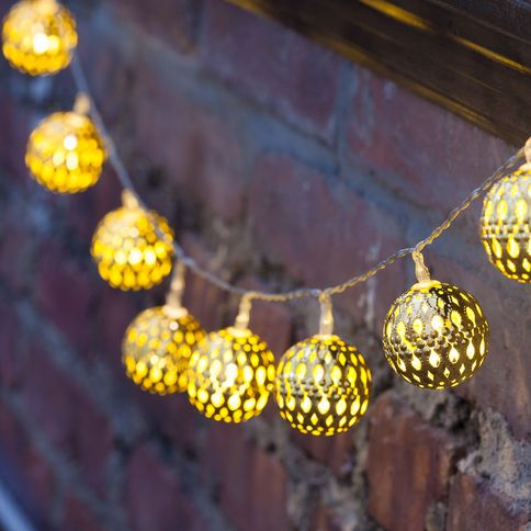 Lights lit decor string lights decorative gold moroccan mesh multicolor battery operated string lights strand of 10 aloadofball Gallery