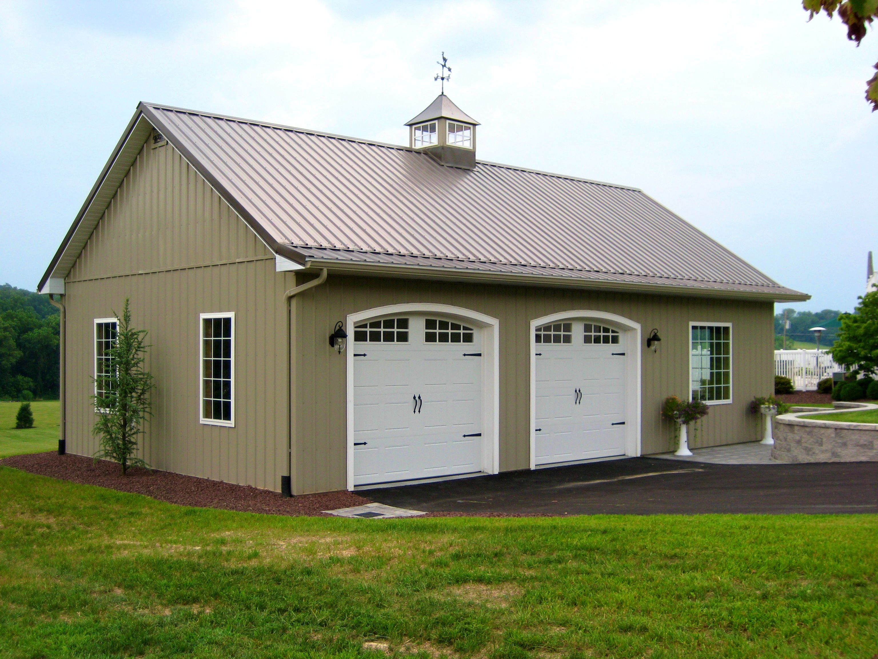house style barn vinyl carriage tan doors garage product w dutch