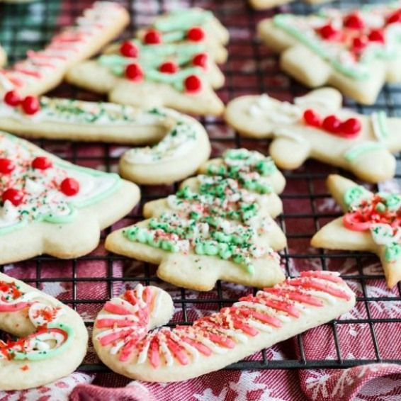 Christmas Sugar Cookies These frosted Christmas Sugar Cookies are