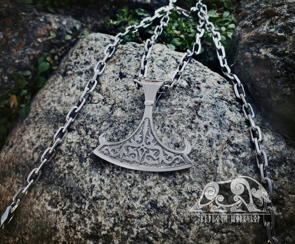 Perun/'s Axe Pendant Axe of Perun Amulet Sterling Silver