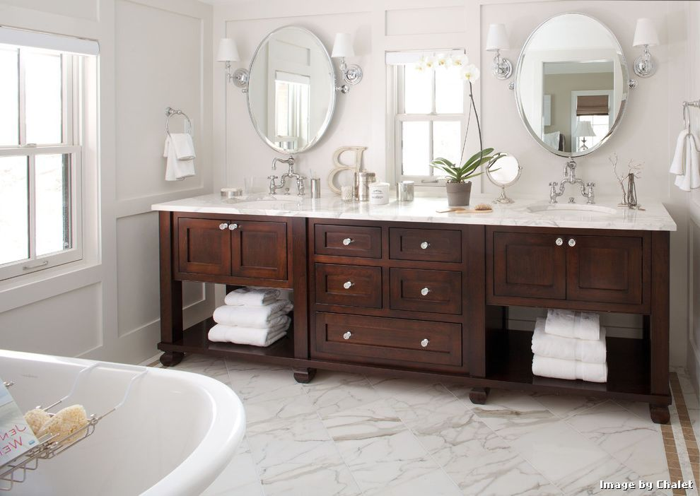 love the window placement with the vanity bathroom - Bathroom Cabinets Long Island