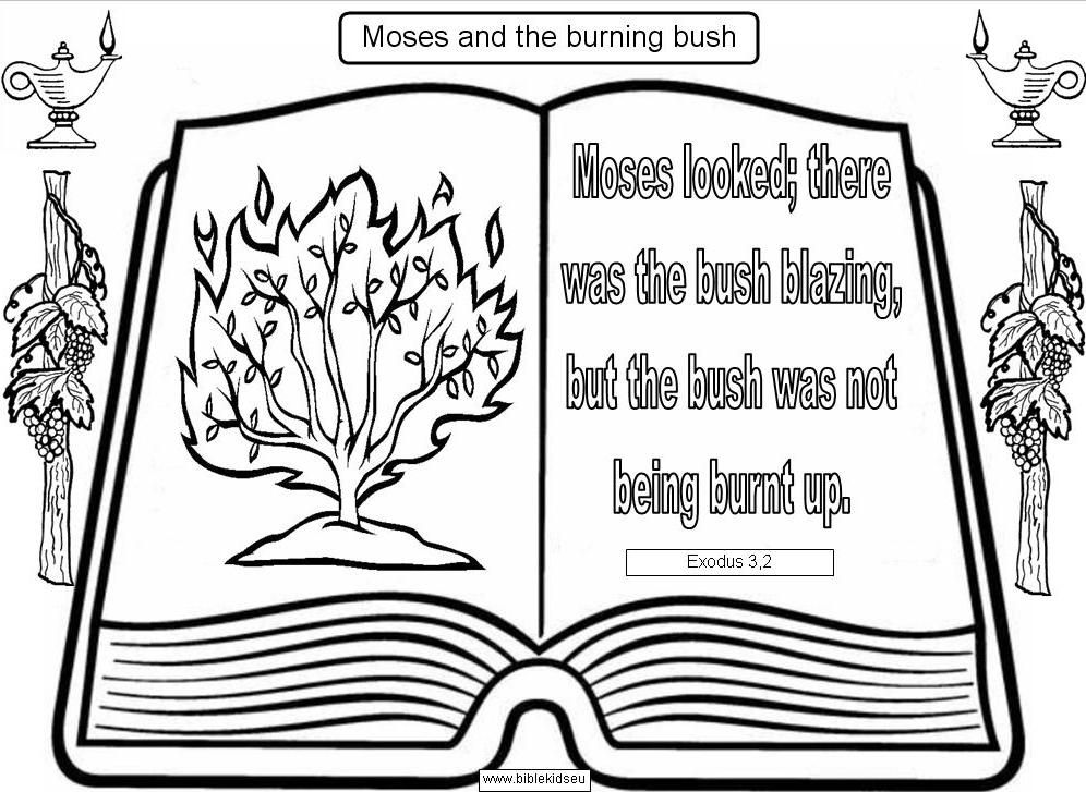 Moses And The Burning Bush Verse To Color