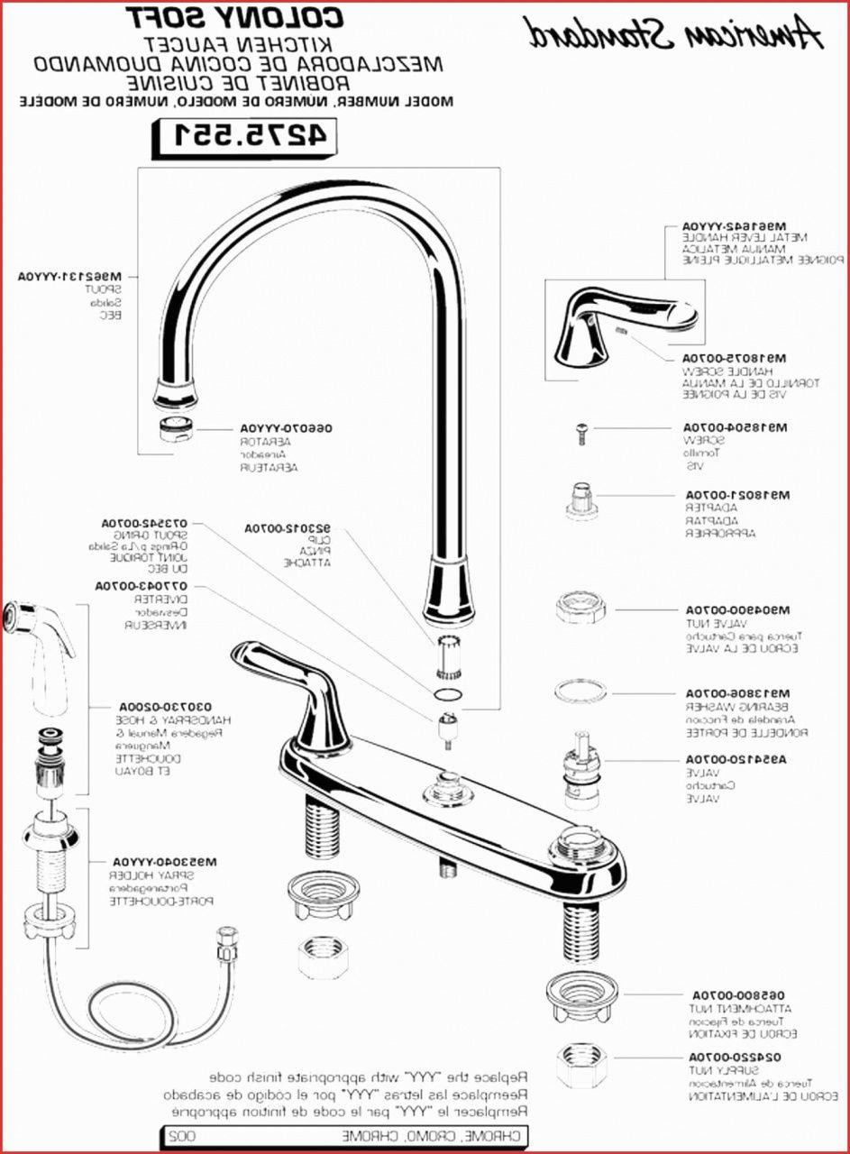 American Standard Kitchen Faucet Parts Diagram In 2020 Kitchen Faucet Faucet Parts Kitchen Faucet Parts