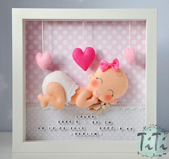 Marco decorativo de bebé nuevo bebé personalizado por TiTics ...